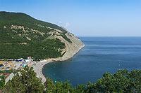 Вид на Черное море у поселка Дюрсо